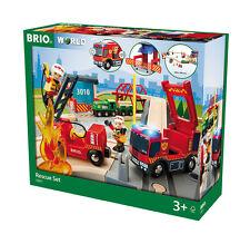 Holzeisenbahn Brio Bahn Großes Feuerwehr Deluxe Set 33817 Neuheit