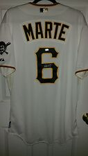 starling marte signed team issued/game used ? jersey mlb holo