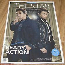 THE STAR SUPER JUNIOR DONGHAE & EUNHYUK NICOLE KOREA MAGAZINE 2015 JAN JANUARY