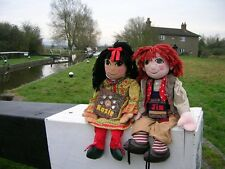 COLLECTABLE LARGE GIANT 30 inch ROSIE JIM NARROW BOAT CANAL DOLLS UNIQUE 90s tv