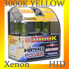 H11 3000K GOLDEN YELLOW XENON HID HALOGEN HEADLIGHT BULBS - LOW BEAM