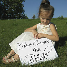 HERE COMES THE BRIDE SIGN, for flower girl great for photos and props wedding