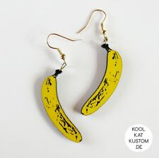 BANANA Ohrringe Banane earrings Obst Raw Vegan Rohkost healthy