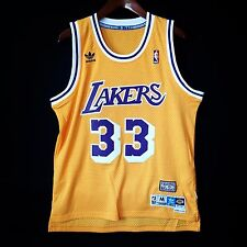 100% Authentic Kareem Abdul Jabbar CAP Soul Swingman Lakers NBA Jersey M - kobe