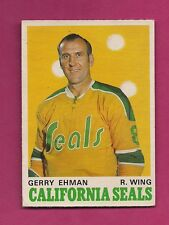1970-71 OPC # 187 SEALS GERRY EHMAN  VG  CARD  (INV#2769)
