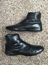 PRADA Size 9  Mens Black Leather Side Zip Ankle Sport Boots 10.5-11 USA Size