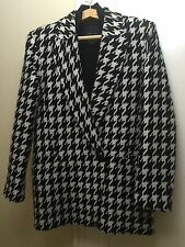 Theory Danvey Brookline Houndstooth Wool-Blend Coat - Size S