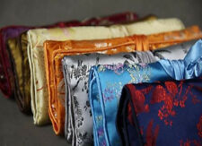 New 10PCS Embroidery SILK Brocade JEWELRY TRAVEL BAG Roll Case Pouch Fabric Bags