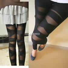 Sexy Women Bandage Mesh Legging Ripped Stretch Jeggings Pants Clubwear Trousers