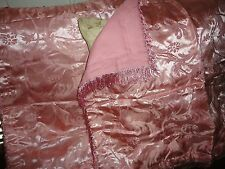 VICTORIA CLASSIC ROSE FLORAL SATIN (PAIR) QUILTED STANDARD PILLOW SHAMS 21 X 27