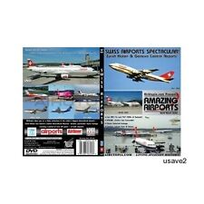 Swiss Zurich & Geneva Airport  Aircraft Aviation DVD Video-Brand New Sealed