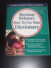 Merriam-Webster HOW TO USE YOUR DICTIONARY Grd. 4-7 NEW