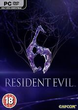 RESIDENT EVIL 6 - PC DVD - NEW & SEALED - FREE UK POST