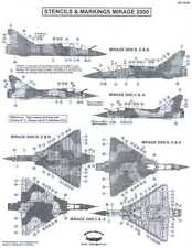 Berna Decals 1/48 DASSAULT MIRAGE 2000 Fighter STENCILS AND MARKINGS