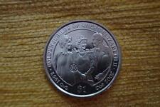 SUPERB  UNC 2002 BRITISH VIRGIN IS $1 THE QUEENS GOLDEN JUBILEE,38MM