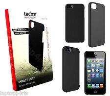 100% Genuine Tech 21 d30 Impact Snap Case Cover per iPhone 5s 5 Nero se t21-3577