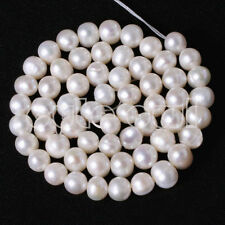 """AAA+6-7MM NATURAL WHITE FRESHWATER CULTURED PEARL LOOSE BEADS STRAND 15"""""""