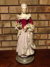 "ANTIQUE 1800'S VICTORIAN WOMEN SIGNED CHANTILLY CHINA 428 17"" PORCELAIN FIGURINE"
