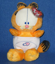 TY BABY GARFIELD the CAT in DIAPERS BEANIE BABY - NEAR MINT TAG - SEE PIC