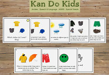 Social Story Cards - Which Clothes Do I Wear (Boy) - Autism
