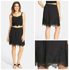COCO + JAMESON  CHIC   LACE  TRIM  SKIRT  Sz M   Nordstrom   NEW