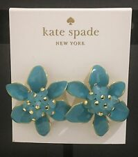 Kate Spade Lovely Lillies Turquoise Stud Earrings, New with tag