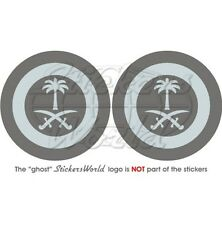 "SAUDI ARABIA AirForce LowVis Aircraft Roundel 75mm (3"") Vinyl Stickers Decals x2"