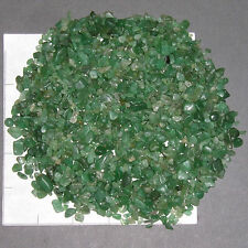 AVENTURINE GREEN Chips 3-12 mm semi-tumbled 1/2 lb bulk xmini-xs stones waxed