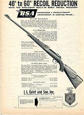 1957 Print Ad of JL Galef & Sons BSA Royal Line of Hunting Rifles