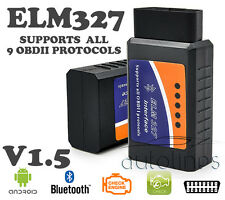 ELM327 OBD2 OBDII V1.5 BLUETOOTH Android Car Auto Diagnostics Scanner Read Tool