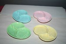 4 Mid-Century Modern Shawnee Card Suit Ashtrays & Coasters #411 USA