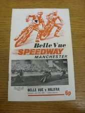 17/07/1971 Speedway Programme: Belle Vue v Halifax (results/riders/positions all