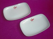 PAIR VIRGIN ATLANTIC PETITS FOURS DISHES FOR A UPPER CLASS PARTY! 21 PAIRS AVAIL