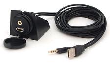 USB AUX IN Einbau Buchse Verlängerung Kabel Adapter KFZ 2m VW Audi BMW