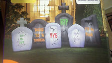 HALLOWEEN 8  FT CEMETARY TOMBSTONES GRAVEYARD AIRBLOWN INFLATABLE DECORATION