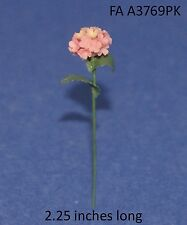 HYDRANGEA PINK Stemmed 1:12 Scale FLOWER Dollhouse Miniature Adult Collectable
