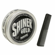 SHINER GOLD 4 Oz Heavy Strong Hold Pomade greaser Made in USA Free Comb NEW