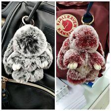 2pcs Real Rex rabbit Fur bunny Color Frost Fur Keyring Bag Charm accessory