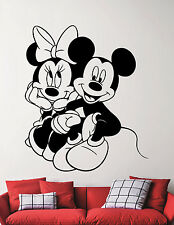 Mickey and Minnie Mouse Wall Decal Disney Vinyl Sticker Art Nursery Decor 1ehuy