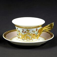 VERSACE BUTTERFLY Cup Saucer LE JARDIN SET tea coffee New $300 ROSENTHAL SALE