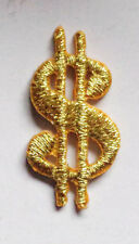 Iron On Patch Applique - Metallic Gold Dollar Sign