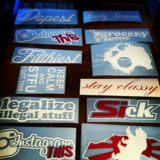 JDM Decal Set Filthiest BlackListed Sick illest Drift  HellaFlush Decal Stickers