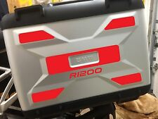 2pt RED REFLECTIVE VARIO SAFETY PANELS TO FIT BMW R1200GS LIQUID COOLED STICKERS