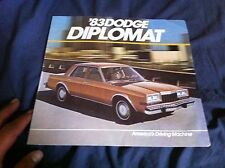 1983 Dodge Diplomat Color Sales Brochure Prospekt