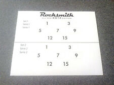 Rocksmith 2014 Guitar Fret Number Stickers -Two Sets Per Sheet     NEW
