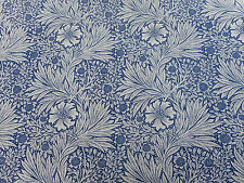 "William MORRIS Curtain Fabric ""Calendula"" 2.1 METRI (210cm) Indaco / Biancheria"