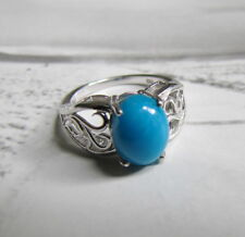 Beautiful Sleeping Beauty Turquoise and Sterling Silver Ring 5.75 6