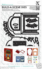 Xcut A5 Shadow Box Build a Scene die set fire place Christmas fireplace