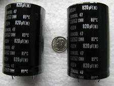 (1) 820uF 450V Nippon Chemi-Con SMH series snap in Electrolytic Capacitors