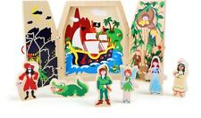 Fairy tale play set wooden book Childrens book play set New peter pan story